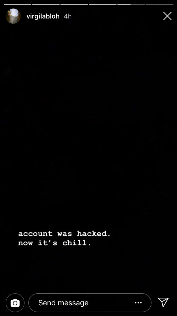 Virgil Abloh Instagram Gets Hacked – The Perfect Play